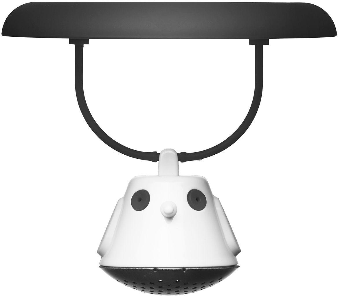 Емкость для заваривания чая QDO Birdie Swing, с крышкой, цвет: черный567432Оригинальная емкость для заваривания чая в виде небольшой птички. Снабжена крышкой для кружки, с помощью которой можно быстро и безопасно приготовить любимый напиток. Одним легким движением откройте стальной фильтр, наполните его необходимым количеством чайных листьев, так же легко закройте и поместите в горячую воду. Крышка не только поможет чаю завариться быстрее, но и убережет ваши пальцы от возможного нагревания. Когда чай готов, просто поднимите крышку, переверните и положите на стол. Вся жидкость с заварника будет стекать в нее, как в поднос - очень удобно. Емкость можно мыть в посудомоечной машине. Материал - нержавеющая сталь и пластик без содержания бисфенола-А.