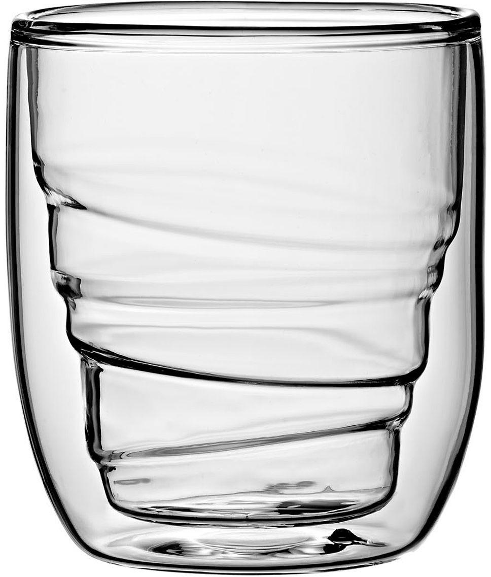 Набор стаканов QDO Elements Wood, 75 мл, 2 шт567492Набор Elements - это оригинальные стаканы с двойными стенками и оригинальным дизайном, изображающим главные элементы природы. Выполнен из боросиликатного стекла, устойчивого к перепадам температур. Каждый стакан состоит из двух форм: классическая внешняя позволит держать емкость с горячим содержимым в руке без риска обжечься, а модифицированная внутренняя придаст вашим напиткам необычный вид. Стаканы станут идеальным украшением барной стойки, вечеринки или просто домашней коллекции. Объем - 75 мл. Можно мыть в посудомоечной машине.