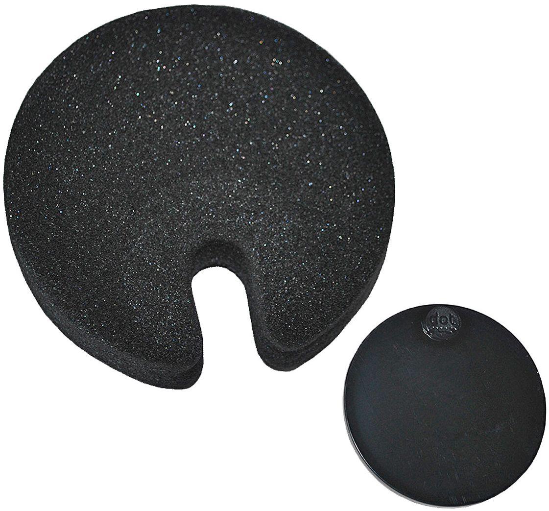 Губка Fabrikators Dot с держателем, цвет: черныйDSH-BLAБлагодаря прочной присоске, держатель с губкой можно зафиксировать в раковине, шкафу или на керамической плитке. Таким образом, у вас под рукой всегда будет готовое к использованию средство. Губки быстро сохнут. Можно мыть в посудомоечной машине.