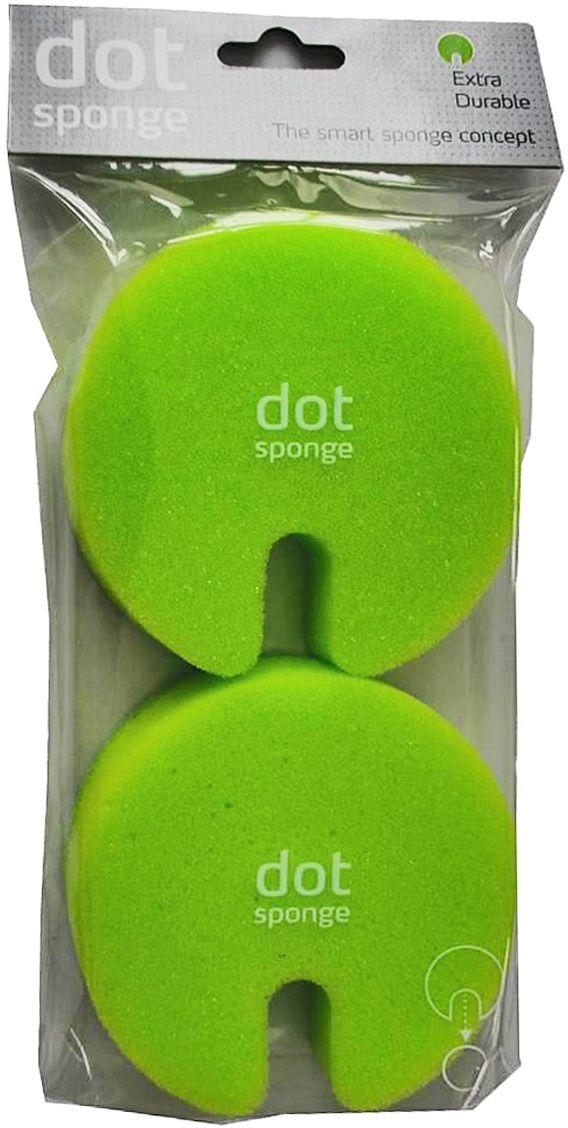 Губка Fabrikators Dot, цвет: зеленый, 2 штDSS-GБлагодаря прочной присоске, держатель с губкой можно зафиксировать в раковине, шкафу или на керамической плитке. Таким образом, у вас под рукой всегда будет готовое к использованию средство. Губки быстро сохнут. Можно мыть в посудомоечной машине.