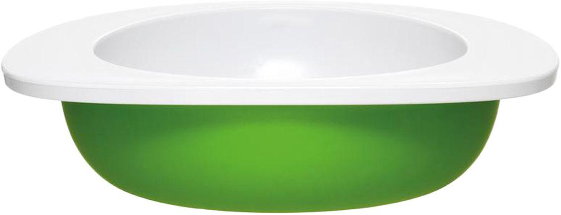 Миска для малыша Fabrikators, цвет: зеленыйTDBOWL-GКормление без суеты и мелких неприятностей. Миска для малыша не скользит и надежно держится на поверхности стола благодаря дополнительному весу в нижней части. За счёт удобной формы чаши, из неё удобно есть кашу, суп или йогурт. Посуда не содержит бисфенол-А
