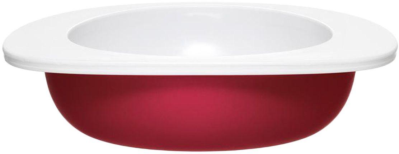 Миска для малыша Fabrikators, цвет: красныйTDBOWL-RКормление без суеты и мелких неприятностей. Миска для малыша не скользит и надежно держится на поверхности стола благодаря дополнительному весу в нижней части. За счёт удобной формы чаши, из неё удобно есть кашу, суп или йогурт. Посуда не содержит бисфенол-А