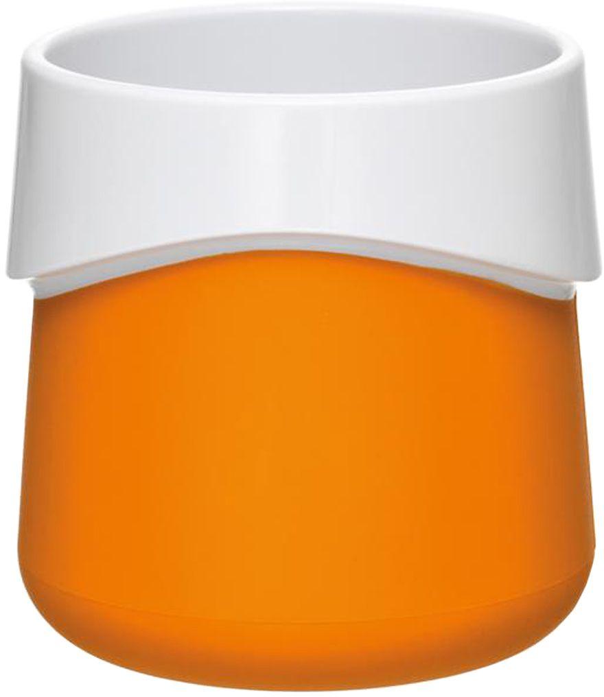 Кружка для малыша Fabrikators, цвет: оранжевыйTDCUP-OКормление без суеты и мелких неприятностей. Кружка для малыша не скользит и надежно держится на поверхности стола благодаря дополнительному весу в нижней части. Кружку удобно захватывать за специальный ободок вокруг чашки. Посуда не содержит бисфенол-А