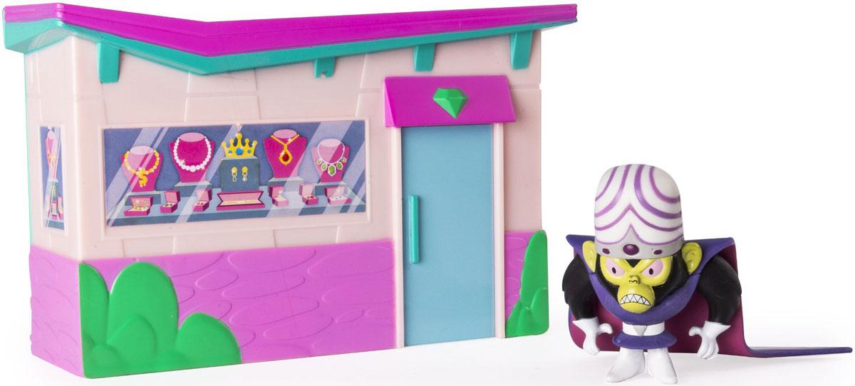 Powerpuff Girls Игровой набор с куклой Моджо Джоджо22310Игровой набор Powerpuff Girls Моджо Джоджо трансформируется: школа раскрывается в игровую площадку с принцессой. Ювелирный магазин раскрывается в сцену ограбления магазина с обезьяной Моджо. В комплекте фигурка злодея (высота 5 см).