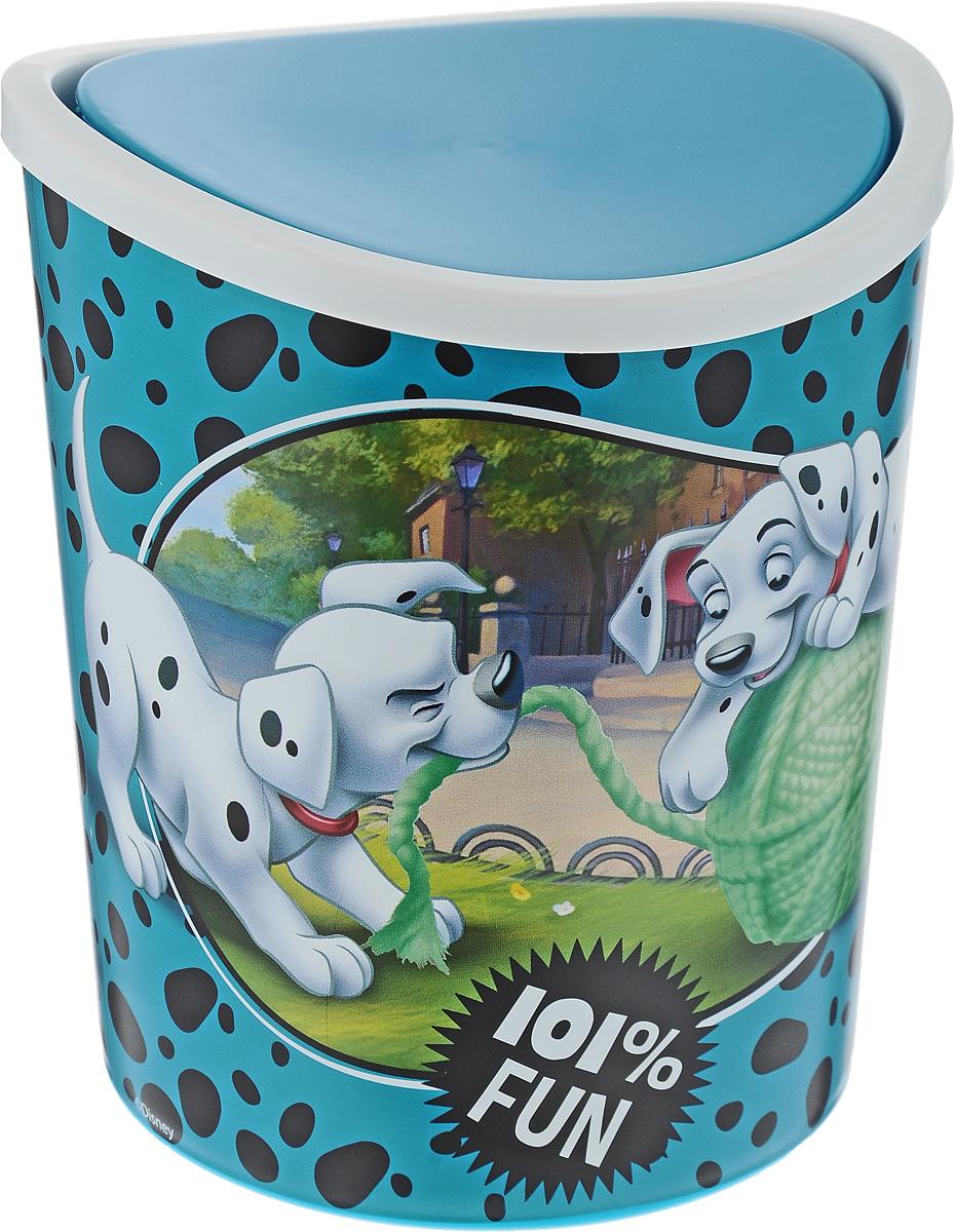Контейнер для мусора Idea Disney. Далматинцы, настольный, цвет: бирюзовый, 1,6 лМ 2491-Д