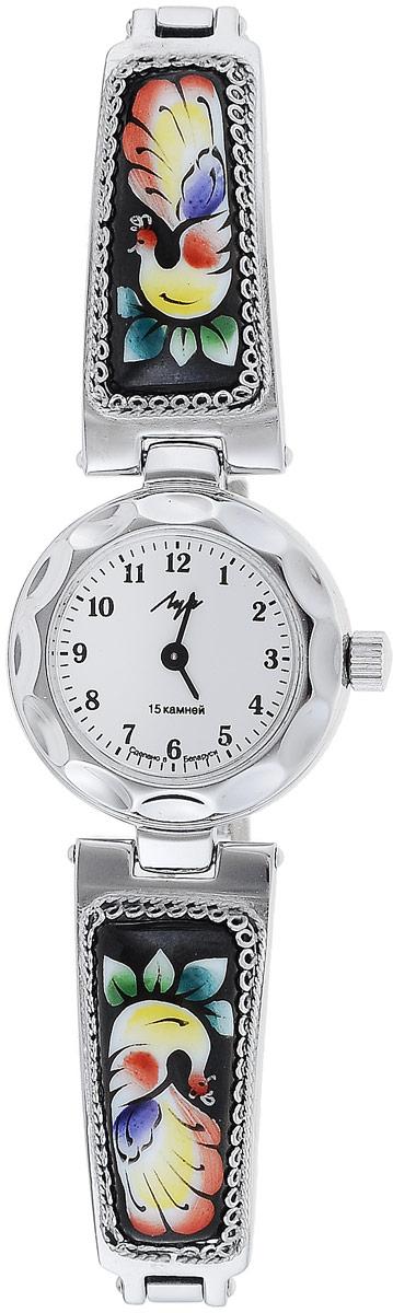 Часы наручные женские Луч, цвет: серебристый, черный, мультиколор. 8137151481371514_серебристый, черныйНаручные женские часы Луч оснащены пружинным механизмом. Корпус часов изготовлен из металла с хромовым покрытием. Циферблат круглой формы оснащен арабскими цифрам, отметками и двумя стрелками - часовой и минутной. Защищен циферблат органическим стеклом. Ремешок выполнен из металла с расписными вставками и дополнен удобным складным замком, который позволяет легко снимать и надевать часы без лишних усилий. Часы Луч подчеркнут изящность женской руки и отменное чувство стиля у их обладательницы.