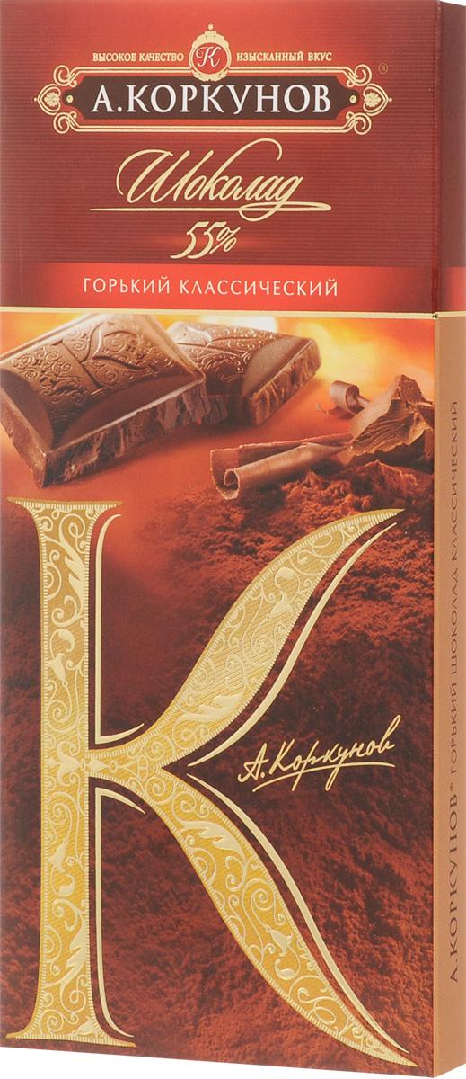 А.Коркунов Коркунов горький шоколад 55%, 90 г 79005024
