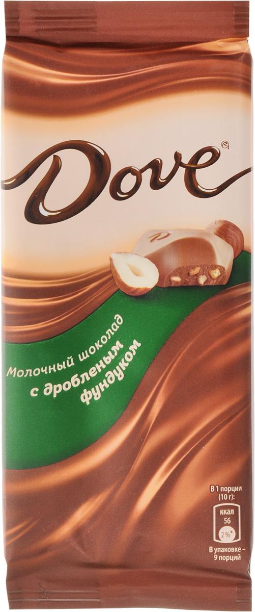 Dove молочный шоколад с дробленым фундуком, 90 г 79004061
