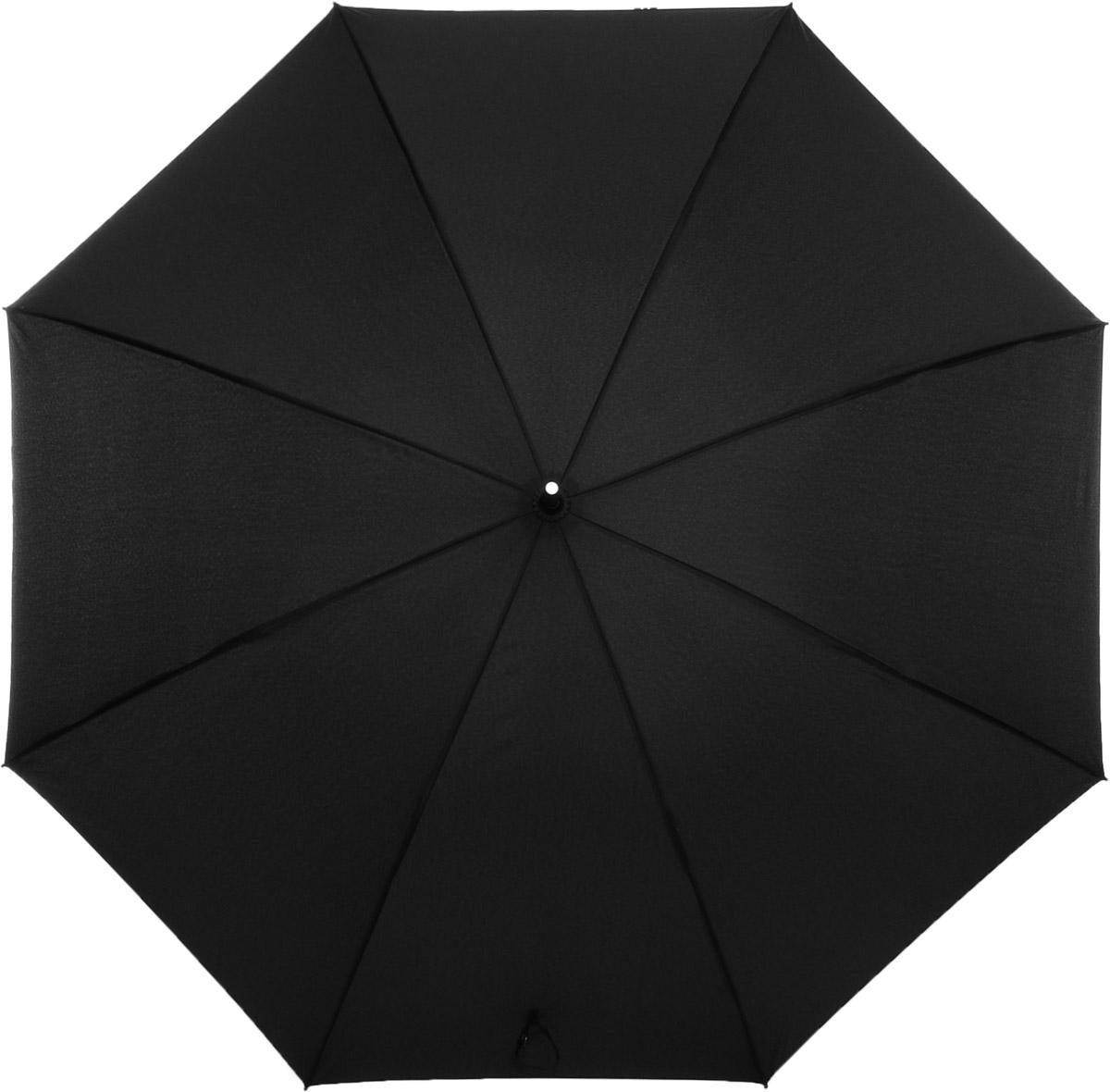 Зонт мужской Fabretti, цвет: черный. 17001700Мужской зонт от итальянского бренда Fabretti выполнен в классическом черном цвете. Значительным преимуществом данной модели является система антиветер, которая позволяет выдержать сильные порывы ветра. Эргономичная ручка сделана из высококачественного пластика-полиуретана с противоскользящей обработкой.