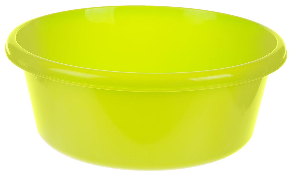 Таз Idea, круглый, цвет: салатовый, 11 лМ 2513Таз Idea выполнен из прочного пластика. Он предназначен для стирки и хранения разных вещей. Также в нем можно мыть фрукты. Такой таз пригодится в любом хозяйстве. Диаметр таза (по верхнему краю): 33 см. Высота стенки: 15 см.