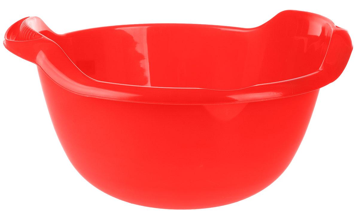 Таз Idea, с ручками, цвет: красный, 24 лМ 2508Таз Idea выполнен из прочного пластика. Он предназначен для стирки и хранения разных вещей. Также в нем можно мыть фрукты. Для удобства таз снабжен двумя ручками. Такой таз пригодится в любом хозяйстве. Размер таза: 47 х 51 х 23 см.