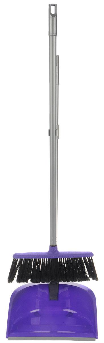 Набор для уборки Idea Ленивка. Люкс, цвет: фиолетовый, серый, 2 предметаМ 5179Набор для уборки Idea Ленивка. Люкс состоит из совка и щетки, изготовленных из высококачественного пластика. Вместительный совок удерживает собранный мусор и позволяет эффективно и быстро совершать уборку в любом помещении. Сглаженный край совка обеспечивает наиболее плотное прилегание к полу. Щетка имеет удобную форму, позволяющую вымести мусор даже из труднодоступных мест. Совок и щетка оснащены длинными ручками с отверстиями для подвешивания. С набором Idea Ленивка. Люкс уборка станет легче и приятнее. Общая длина щетки: 81 см. Ширина рабочей части щетки: 25 см. Длина совка: 80 см. Размер рабочей части совка: 25,5 х 25 х 10 см.