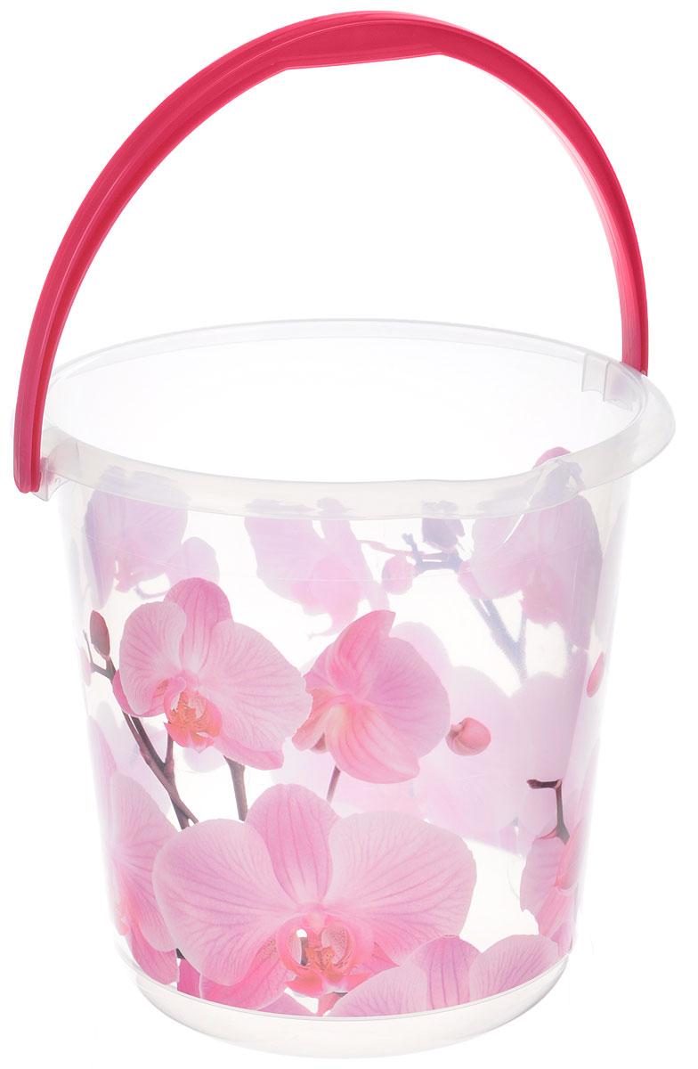 Ведро Idea Деко. Орхидея, 5 лМ 2425Ведро Idea Деко. Орхидея изготовлено из высококачественного пластика. Оно легче железного и не подвержено коррозии. Для удобства использования ведро оснащено пластиковой ручкой. Ведро предназначено для бытовых нужд. Диаметр ведра: 20,5 см. Высота стенки: 22 см.