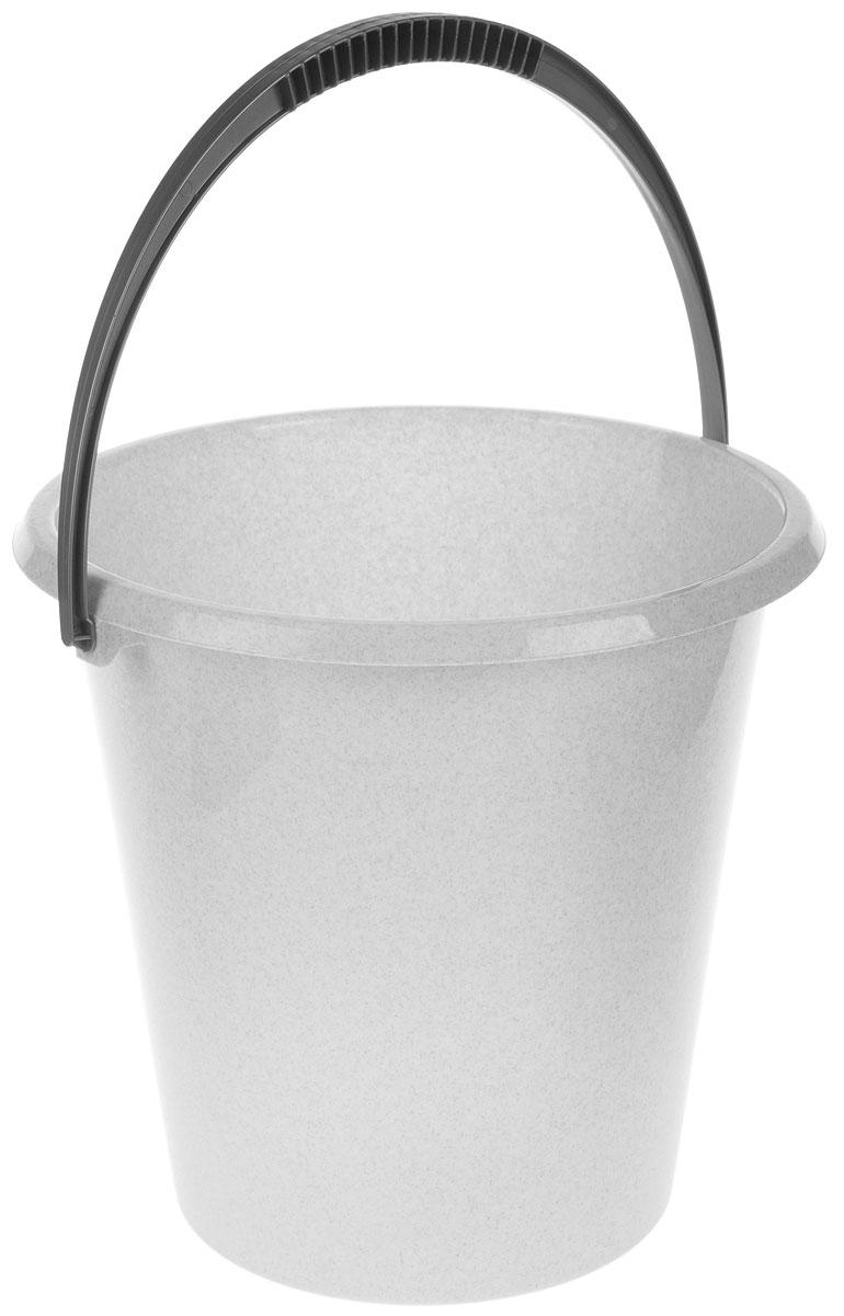 Ведро хозяйственное Idea, цвет: мраморный, 17 лМ 2409Ведро Idea изготовлено из высококачественного прочного пластика. Оно легче железного и не подвержено коррозии. Ведро оснащено удобной пластиковой ручкой. Такое ведро станет незаменимым помощником в хозяйстве. Диаметр (по верхнему краю): 33 см. Высота: 33 см.
