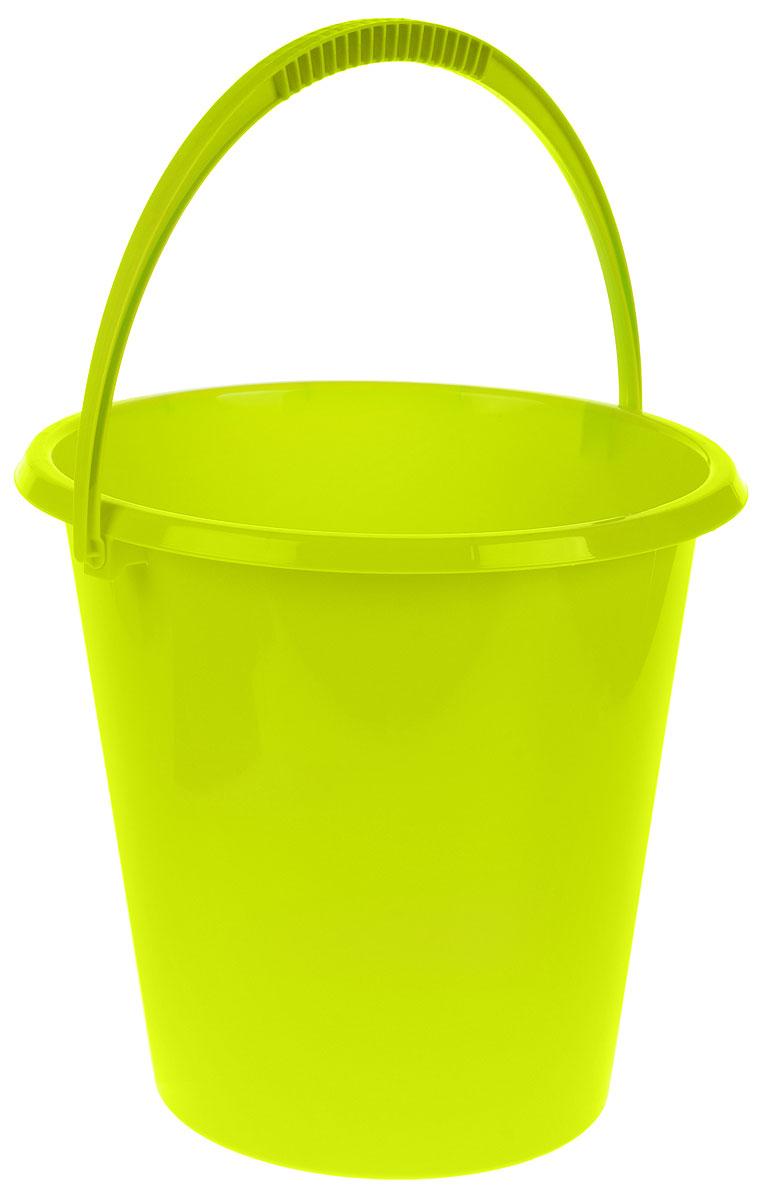 Ведро хозяйственное Idea, цвет: салатовый, 17 лМ 2409Ведро Idea изготовлено из высококачественного прочного пластика. Оно легче железного и не подвержено коррозии. Ведро оснащено удобной пластиковой ручкой. Такое ведро станет незаменимым помощником в хозяйстве. Диаметр (по верхнему краю): 33 см. Высота: 33 см.