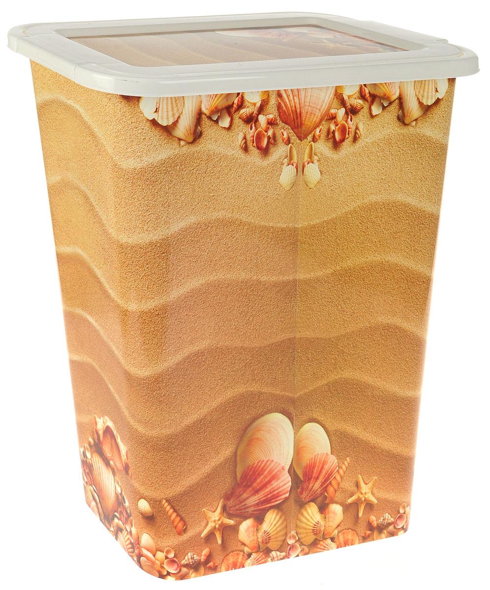 Корзина для белья Idea Деко. Пляж, узкая, 35 лМ 2611Узкая корзина для белья Деко. Пляж изготовлена из высокопрочного износостойкого полипропилена и оформлена красочным рисунком. Предназначена для хранения грязного белья перед стиркой. Изделие снабжено удобной крышкой. Благодаря яркому необычному дизайну, такая корзина станет настоящим украшением ванной комнаты.