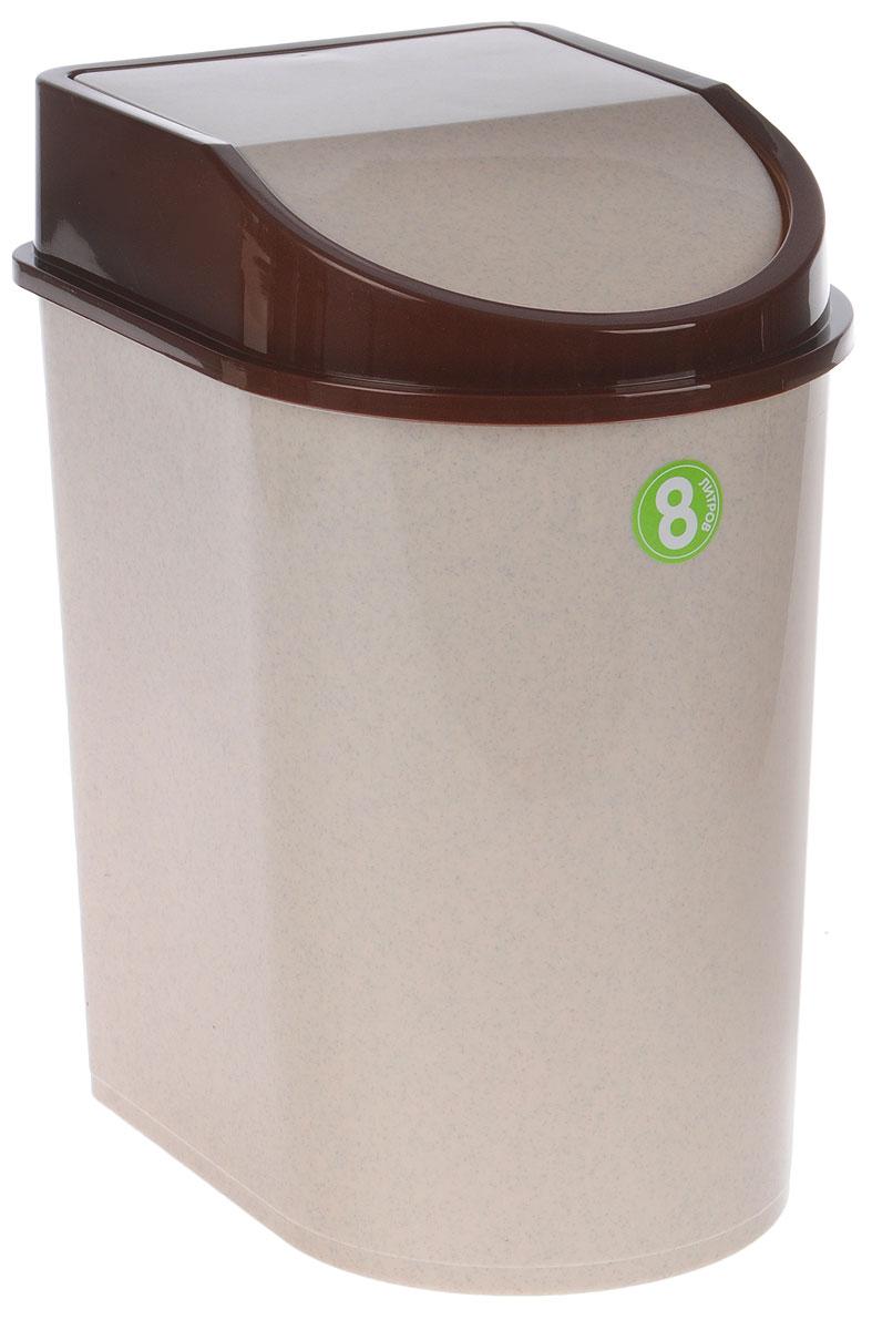 Контейнер для мусора Idea, цвет: бежевый, 8 лМ 2481