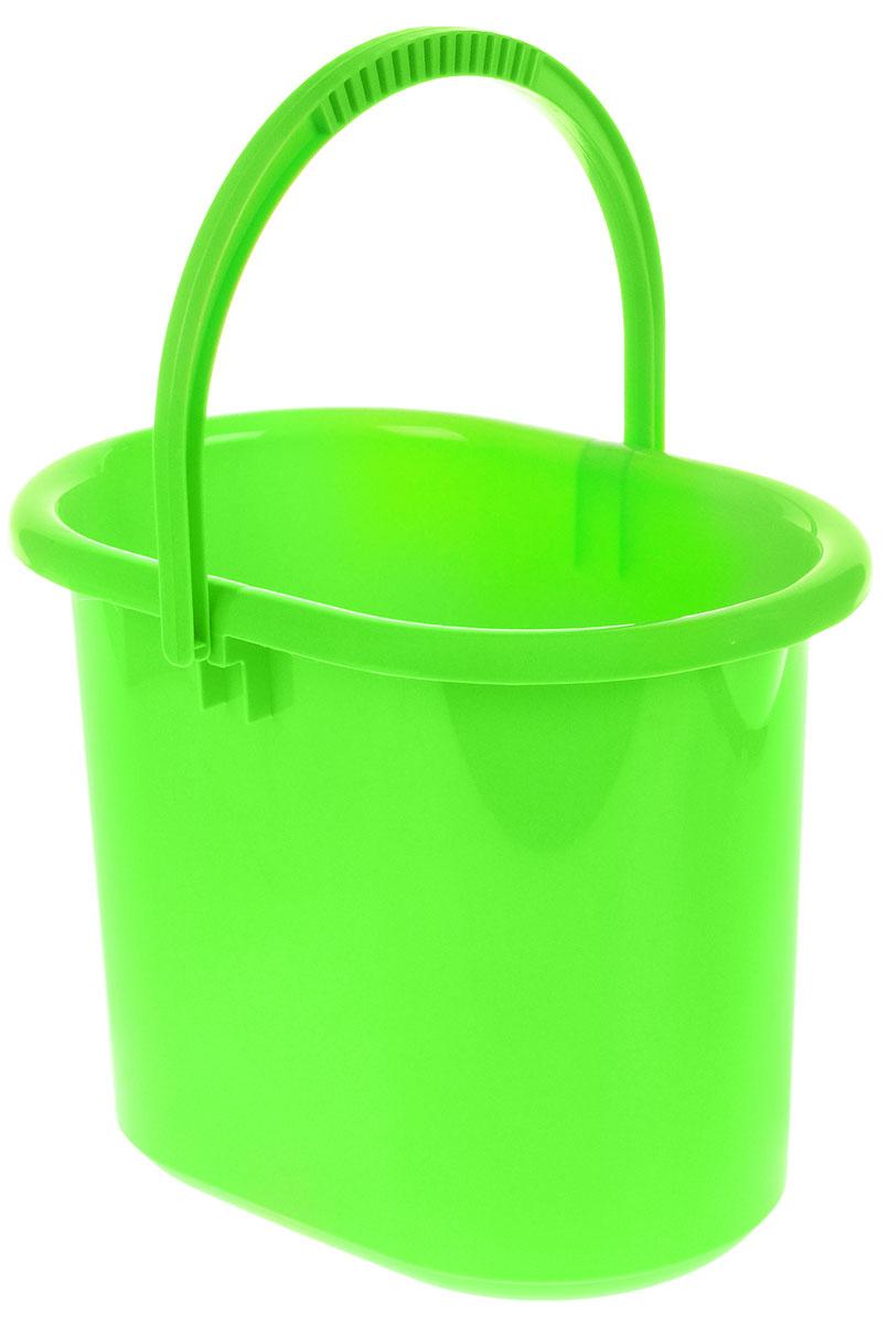 Ведро хозяйственное Idea, овальное, цвет: салатовый, 11 лМ 2422Ведро Idea изготовлено из высококачественного прочного полипропилена. Оно легче железного и не подвержено коррозии. Изделие универсально, его можно использовать в качестве ведра для мыться полов, а также в качестве мусорного ведра. Ведро оснащено удобной пластиковой ручкой для переноски. Внутри имеется мерная шкала. Такое ведро станет незаменимым помощником в хозяйстве. Размер (по верхнему краю): 33 х 23,5 см. Высота: 26,5 см.