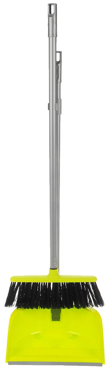 Набор для уборки Idea Ленивка. Люкс, цвет: салатовый, серый, 2 предметаМ 5179Набор для уборки Idea Ленивка. Люкс состоит из совка и щетки, изготовленных из высококачественного пластика. Вместительный совок удерживает собранный мусор и позволяет эффективно и быстро совершать уборку в любом помещении. Сглаженный край совка обеспечивает наиболее плотное прилегание к полу. Щетка имеет удобную форму, позволяющую вымести мусор даже из труднодоступных мест. Совок и щетка оснащены длинными ручками с отверстиями для подвешивания. С набором Idea Ленивка. Люкс уборка станет легче и приятнее. Общая длина щетки: 81 см. Ширина рабочей части щетки: 25 см. Длина совка: 80 см. Размер рабочей части совка: 25,5 х 25 х 10 см.