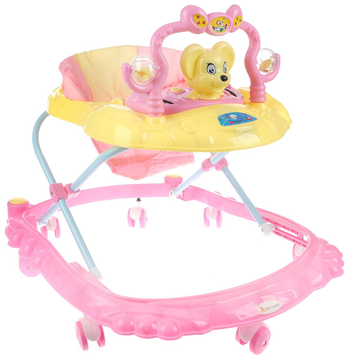 Bertoni Ходунки BW 2808 цвет розовый желтый 3800151948490