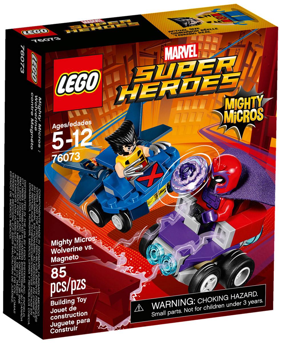 LEGO Super Heroes Конструктор Mighty Micros Росомаха против Магнето 7607376073Стань свидетелем динамичной схватки Людей Икс: Росомаха против Магнето. Росомаха рвётся в бой на своём летательном аппарате! Главное уворачиваться от гигантского магнита Магнето! Но им придётся сразиться врукопашную: когти Росомахи и электромагнитные импульсы Магнето. Что окажется сильнее?