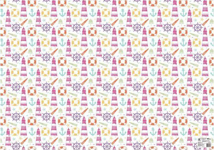 Бумага упаковочная Феникс-Презент, 100 х 70 см. 3258332583Упаковочная бумага 100*70см, для сувенирной продукции, в рулонах, мелованная с одной стороны, с полноцветным декоративным рисунком, плотность 80 г/м2)
