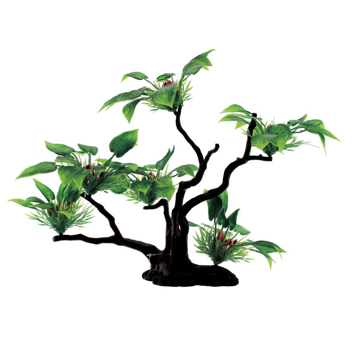 Композиция из растений для аквариума ArtUniq Буцефаландра широколистная, 32 x 12 x 32 смART-1130302Композиция из растений для аквариума ArtUniq Буцефаландра широколистная, 32 x 12 x 32 см