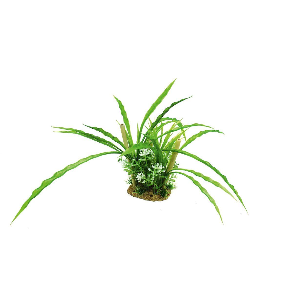 Композиция из растений для аквариума ArtUniq Криптокорина с бамбуком, высота 20 смART-1160507Композиция из растений для аквариума ArtUniq Криптокорина с бамбуком, высота 20 см