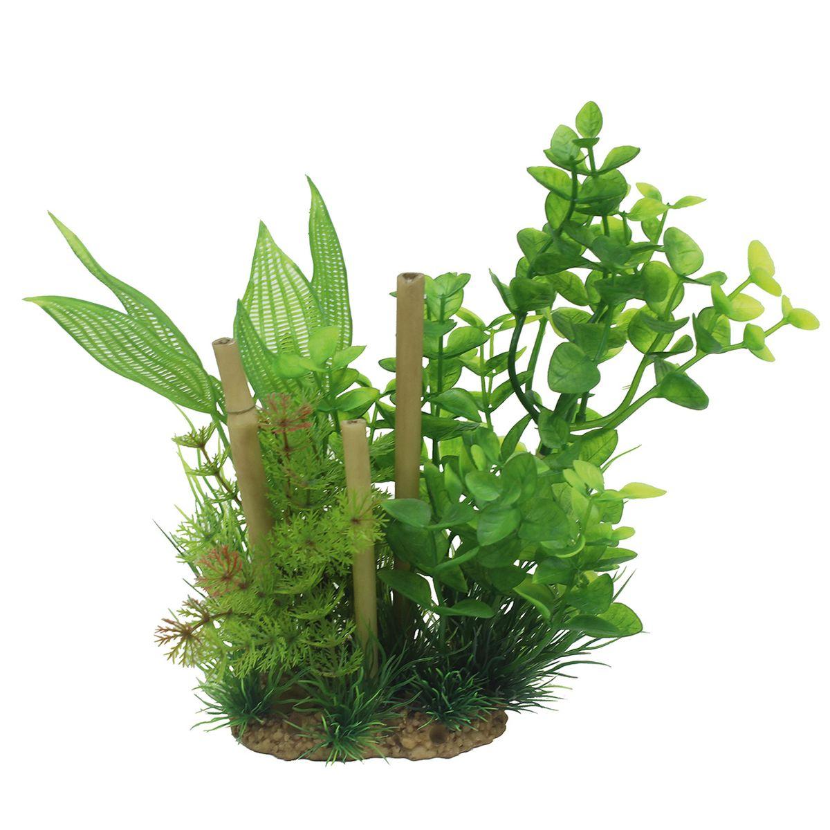 Композиция из растений для аквариума ArtUniq Бакопа с бамбуком, высота 20 смART-1160511Композиция из растений для аквариума ArtUniq Бакопа с бамбуком, высота 20 см
