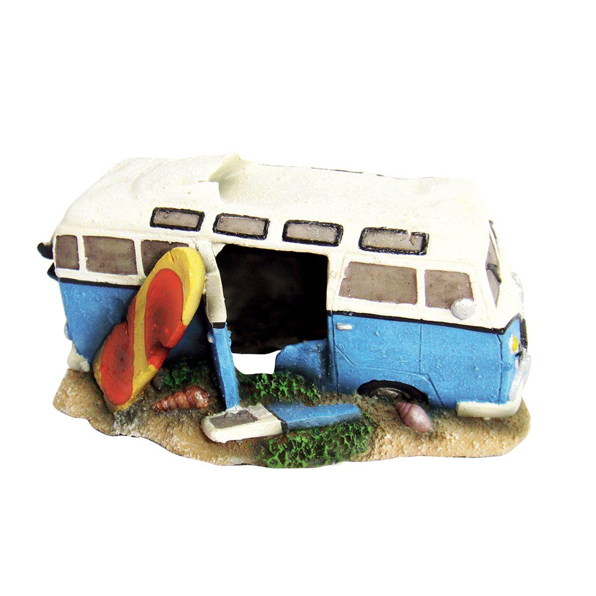 Декорация для аквариума ArtUniq Автобус незадачливых серферов, 16,5 x 11 x 8,5 смART-2230361Декорация для аквариума ArtUniq Автобус незадачливых серферов, 16,5 x 11 x 8,5 см