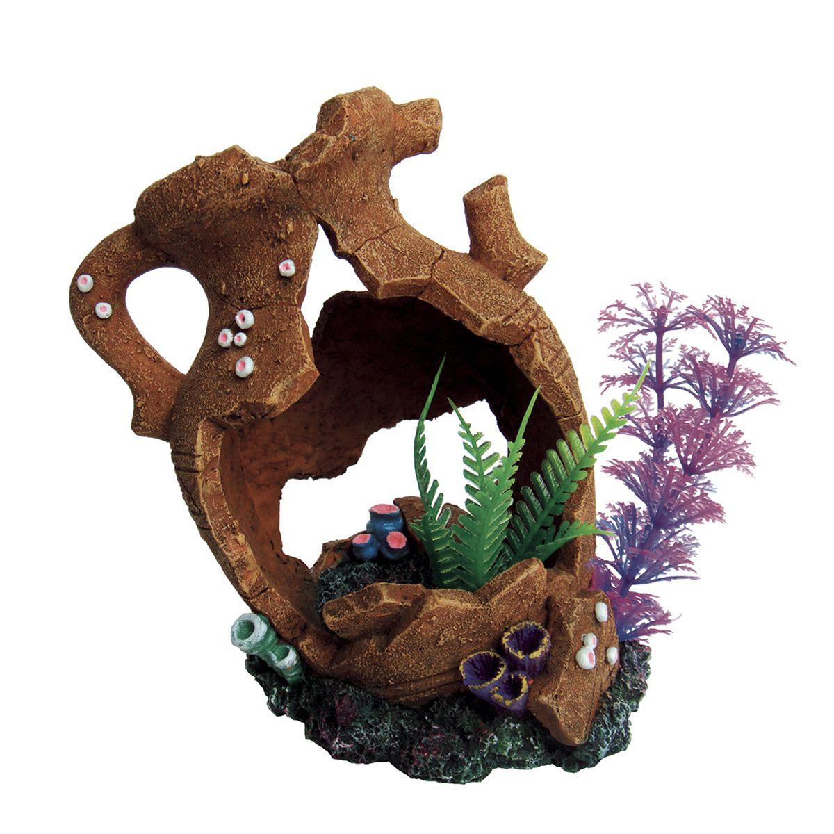 Декорация для аквариума ArtUniq Разбитый кувшин с растениями, 18,5 x 10,5 x 15,5 смART-2280380Декорация для аквариума ArtUniq Разбитый кувшин с растениями, 18,5 x 10,5 x 15,5 см