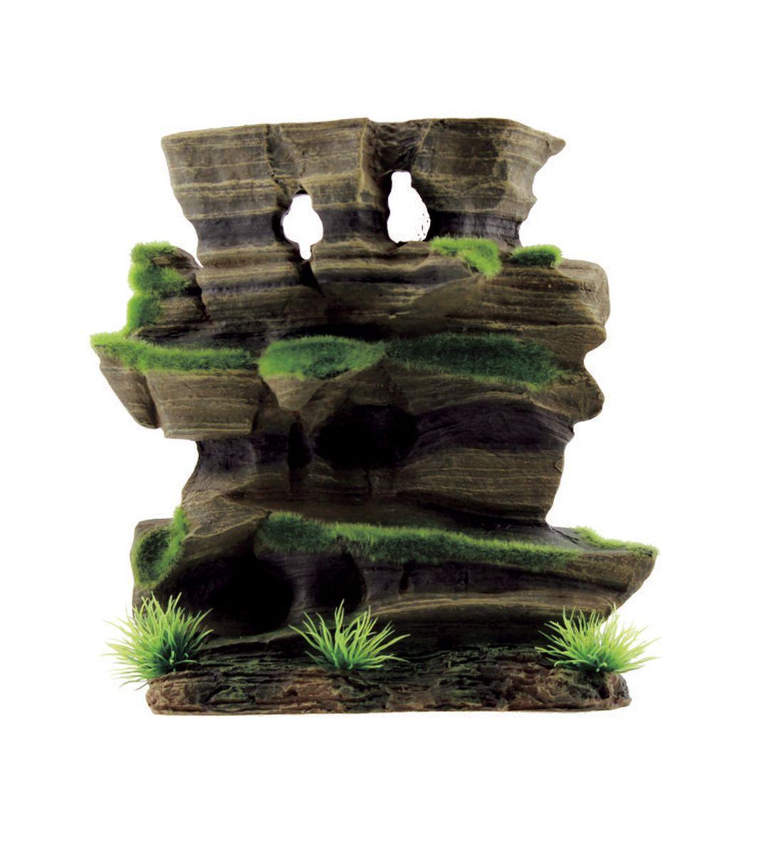 Декорация для аквариума ArtUniq Фигурная скала со мхом, 20,5 x 8,5 x 20,5 смART-3115040Декорация для аквариума ArtUniq Фигурная скала со мхом, 20,5 x 8,5 x 20,5 см