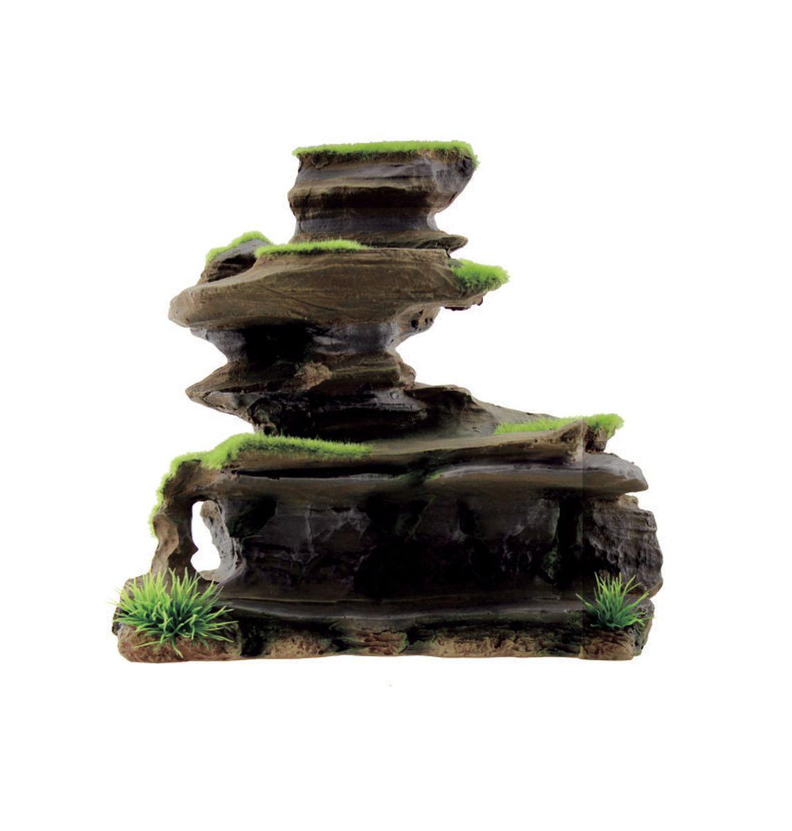 Декорация для аквариума ArtUniq Фигурная скала со мхом, 22,5 x 11,5 x 21,5 смART-3115050Декорация для аквариума ArtUniq Фигурная скала со мхом, 22,5 x 11,5 x 21,5 см