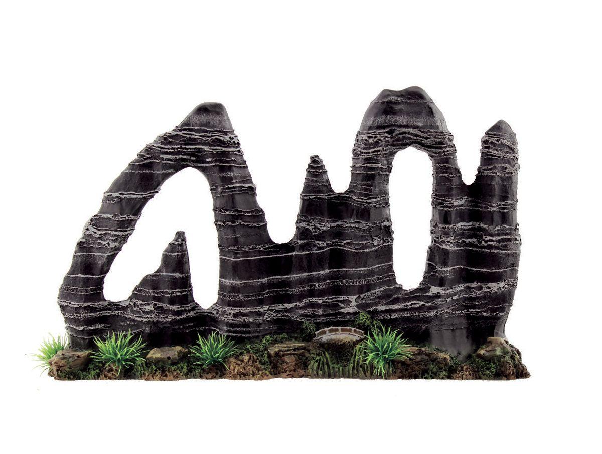 Декорация для аквариума ArtUniq Фигурная скала, 38 x 8,5 x 24 смART-3115060Декорация для аквариума ArtUniq Фигурная скала, 38 x 8,5 x 24 см