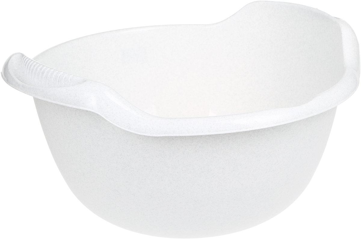 Таз Idea, с ручками, цвет: мраморный, 24 лМ 2508Таз Idea выполнен из прочного пластика. Он предназначен для стирки и хранения разных вещей. Также в нем можно мыть фрукты. Для удобства таз снабжен двумя ручками. Такой таз пригодится в любом хозяйстве. Размер таза: 47 х 51 х 26 см.