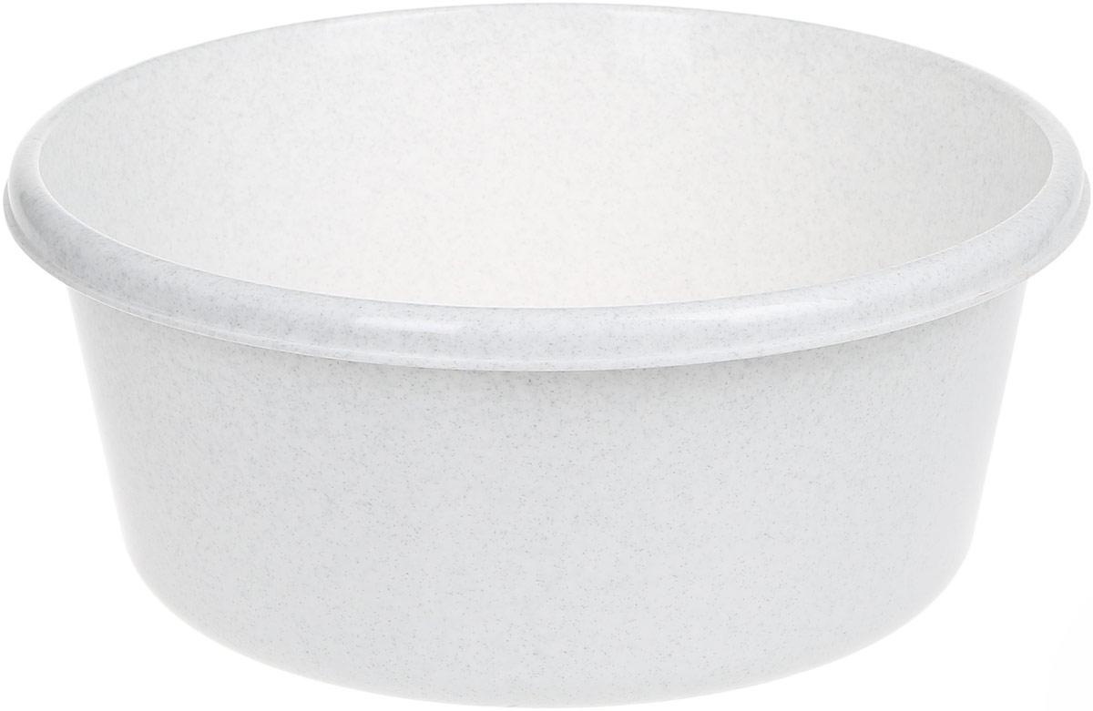 Таз Idea, круглый, цвет: мраморный, 8 лМ 2512Таз Idea выполнен из прочного пластика. Он предназначен для стирки и хранения разных вещей. Также в нем можно мыть фрукты. Такой таз пригодится в любом хозяйстве. Диаметр таза (по верхнему краю): 30 см. Высота стенки: 14 см.