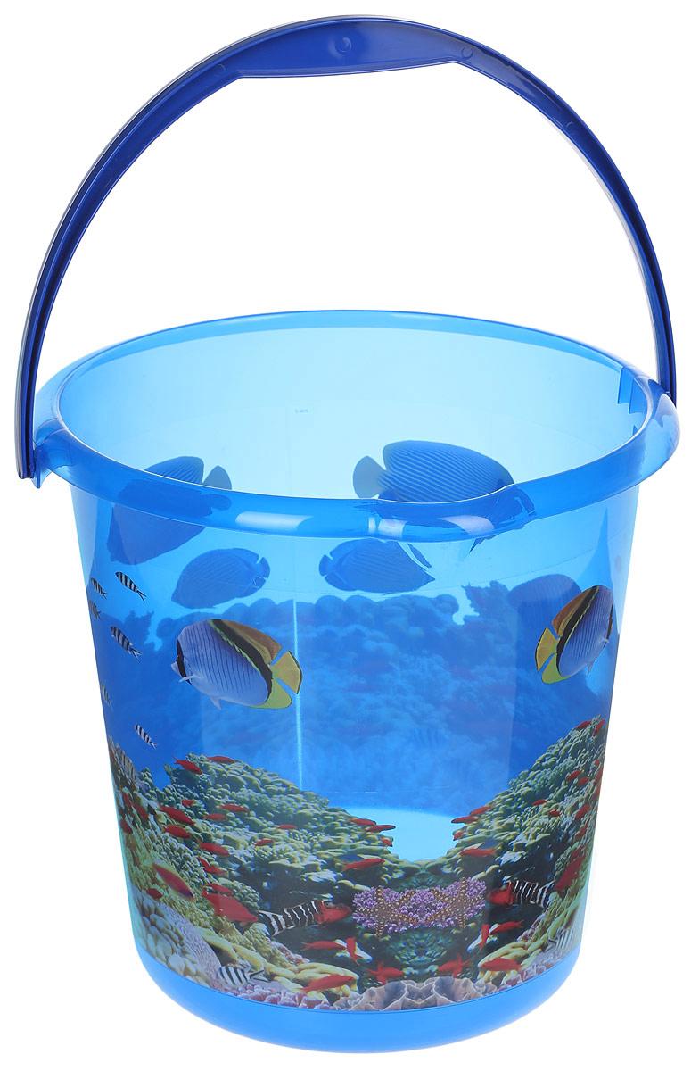Ведро хозяйственное Idea Деко. Океан, 10 лМ 2426Ведро Деко. Океан изготовлено из высококачественного прочного полипропилена. Оно легче железного и не подвержено коррозии. Изделие украшено ярким и красочным рисунком. Ведро оснащено удобной пластиковой ручкой и носиком для слива жидкости. Такое ведро станет незаменимым помощником в хозяйстве. Диаметр (по верхнему краю): 28,5 см. Высота: 28 см.