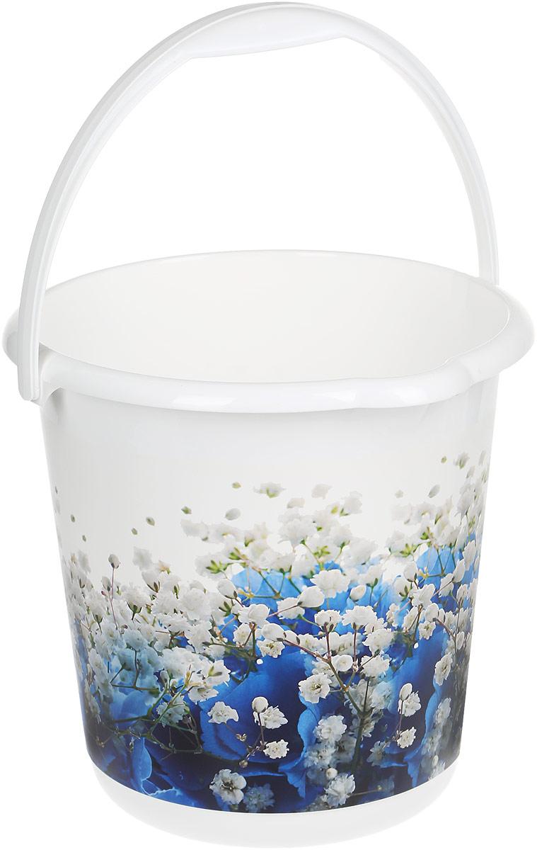 Ведро хозяйственное Idea Деко. Голубые цветы, 10 лМ 2426Ведро Деко. Голубые цветы изготовлено из высококачественного прочного пластика. Оно легче железного и не подвержено коррозии. Изделие украшено ярким и красочным рисунком. Ведро оснащено удобной пластиковой ручкой и носиком для слива жидкости. Такое ведро станет незаменимым помощником в хозяйстве. Диаметр (по верхнему краю): 28,5 см. Высота: 28 см.