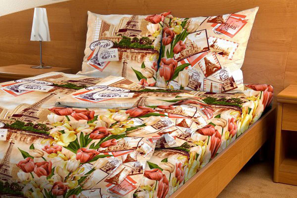 Комплект белья Amore Mio Paris, 1,5-спальный, наволочки 70x70, цвет: персиковый, красный, желтый80791Комплект постельного белья Amore Mio Paris является экологически безопасным для всей семьи, так как выполнен из бязи (100% хлопок). Комплект состоит из пододеяльника, простыни и двух наволочек. Постельное белье оформлено оригинальным рисунком. Легкая, плотная, мягкая ткань отлично стирается, гладится, быстро сохнет. Рекомендации по уходу: Химчистка и отбеливание запрещены. Рекомендуется стирка в прохладной воде при температуре не выше 30°.