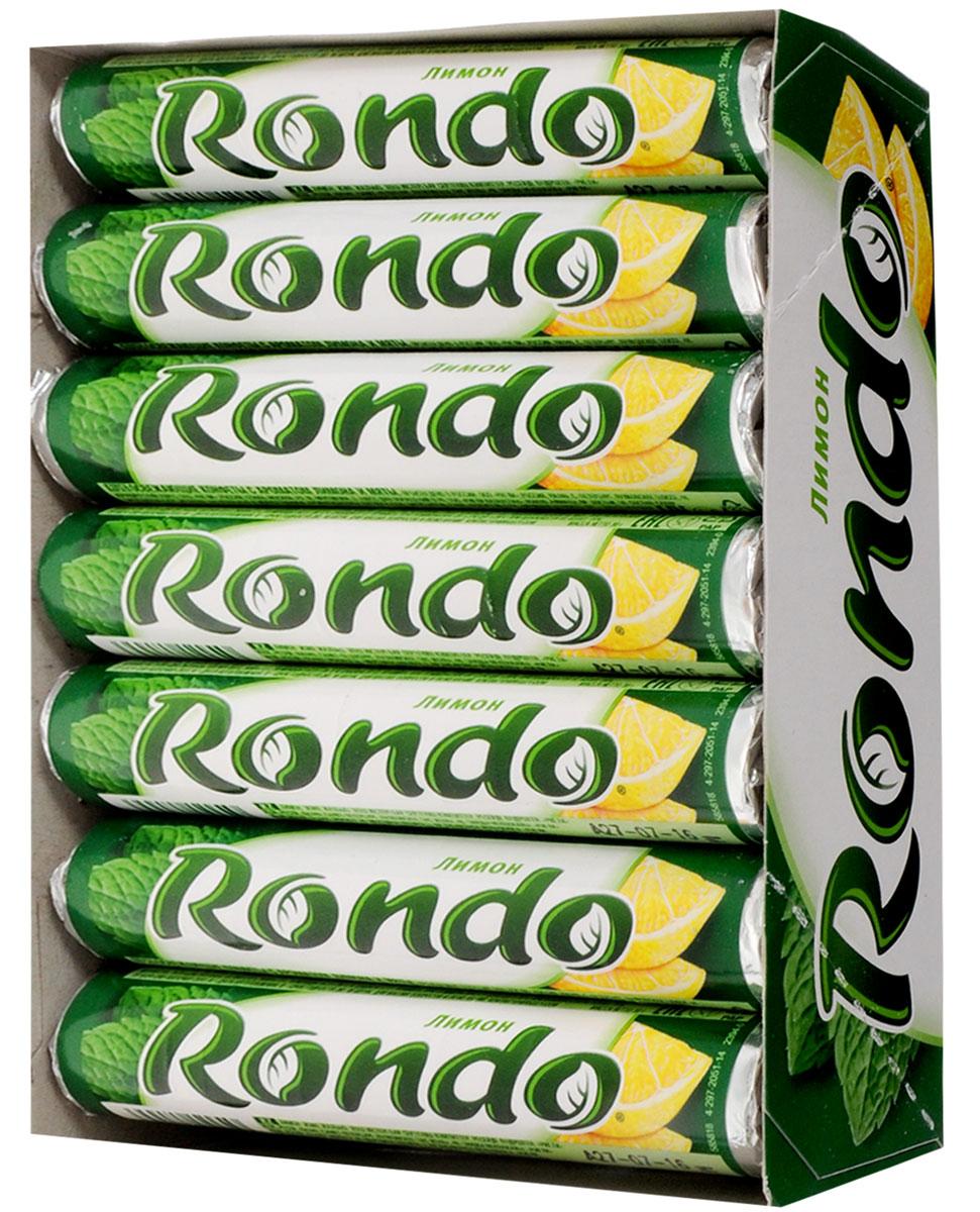 Rondo Лимон освежающие конфеты, 14 пачек по 30 г5000159372862Освежающие конфеты Rondo с ароматом лимона и мяты освежают дыхание и делают день слаще! Уникальный продукт, созданный в 1996 году специально для российских потребителей, по-прежнему остается одним из любимых оружий против несвежего дыхания. Свежее дыхание облегчает понимание! Уважаемые клиенты! Обращаем ваше внимание, что полный перечень состава продукта представлен на дополнительном изображении.