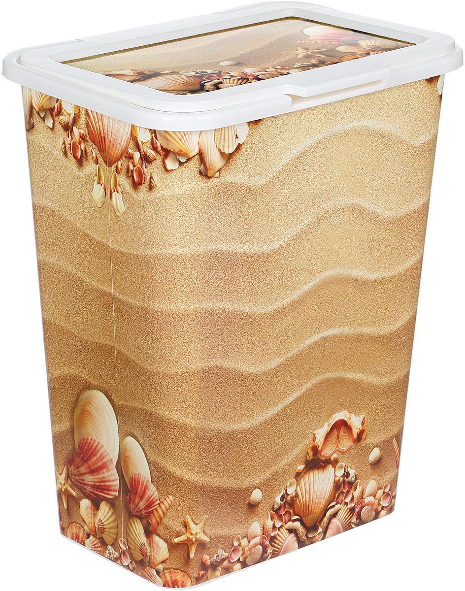 Корзина для белья Idea Деко. Пляж, 50 лМ 2612Корзина для белья Деко. Пляж изготовлена из высокопрочного износостойкого полипропилена и оформлена красочным рисунком. Предназначена для хранения грязного белья перед стиркой. Изделие снабжено удобной крышкой. Благодаря яркому необычному дизайну, такая корзина станет настоящим украшением ванной комнаты. Размер корзины: 43 х 32 х 53 см.