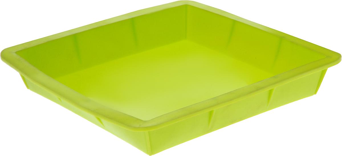Форма для выпечки Calve, силиконовая, цвет: салатовый, 24 х 24 х 3,8 смCL-4602Форма для выпечки Calve выполнена из высококачественного 100% пищевого силикона. Идеально подходит для приготовления выпечки, десертов и холодных закусок. Форма выдерживает температуру от -40 до +240°C, обладает естественными антипригарными свойствами. Не выделяет вредных веществ при высоких температурах. Подходит для использования в духовке. Размер формы: 24 х 24 х 3,8 см.