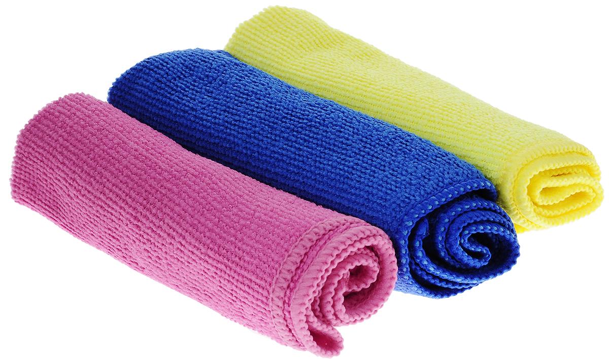 Набор салфеток для уборки Sol, из микрофибры, цвет: розовый, желтый, синий, 30 x 30 см, 3 шт10035_розовый,желтый,синийНабор салфеток Sol выполнен из микрофибры. Микрофибра - это ткань из тонких микроволокон, которая эффективно очищает поверхности благодаря капиллярному эффекту между ними. Такая салфетка может использоваться как для сухой, так и для влажной уборки. Деликатно очищает любые поверхности, не оставляя следов и разводов. Идеально подходит для протирки полированной мебели. Сохраняет свои свойства после стирки. Рекомендации по применению и уходу: Для обеспечения гигиеничности рекомендуется прополаскивать салфетку после каждого применения с моющим средством. Для сохранения мягкости не рекомендуется сушить вблизи отопительных приборов и на батареях.