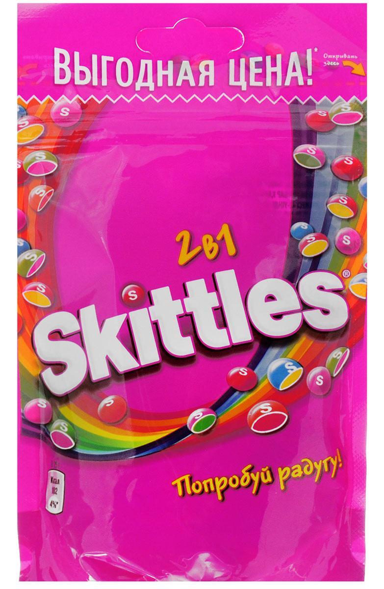 Skittles 2 в 1 драже в сахарной глазури, 100 г4009900481076Драже Skittles c разноцветной глазурью предлагают радугу фруктовых вкусов в каждой упаковке! Вкус 2 в 1 - это в два раза больше радуги, ведь в каждом драже - два фруктовых вкуса! Заразитесь радугой, попробуйте радугу! Уважаемые клиенты! Обращаем ваше внимание, что полный перечень состава продукта представлен на дополнительном изображении.