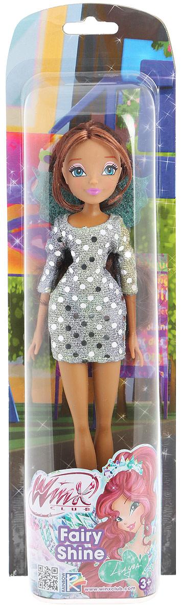 Winx Club Кукла Диско Layla цвет платья серебристыйIW01261500_Диско LaylaКукла Winx Club Диско Layla порадует вашу малышку и доставит ей много удовольствия от часов, посвященных игре с ней. Куколка с длинными каштановыми локонами собралась на дискотеку! Лейла одета в модное серебристое платье, а на ногах - открытые босоножки на высоких каблуках. Образ дополняют зеленые крылышки с блестками у нее за спиной. Ручки, ножки и голова Лейлы подвижны. Ваша малышка с удовольствием будет играть с этой куколкой, проигрывая сюжеты из мультсериала или придумывая различные истории. Все девочки мечтают играть с куклами Winx, ведь они выполнены в виде знаменитых девушек-фей из мультсериала Winx Club. Феи-подружки Блум, Стелла, Текна, Муза, Лэйла и Флора выручают друг друга в беде и спасают мир от темных сил. Юные феи Winx - удивительные могущественные волшебницы, которым под силу любое превращение! А еще они, как и все девчонки, самые настоящие модницы! Волшебницы Винкс обожают крутиться перед зеркалом и менять наряды!