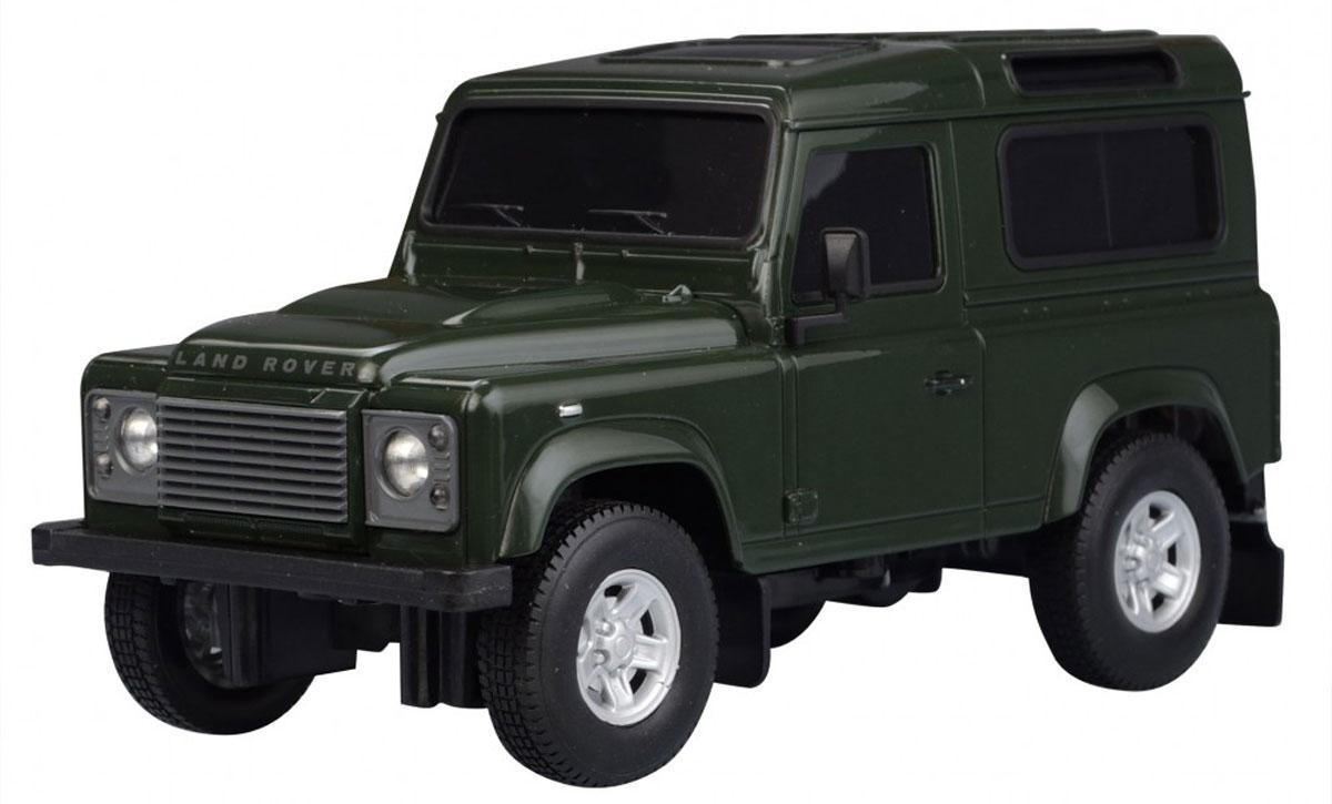 Welly Радиоуправляемая модель Land Rover Defender цвет темно-зеленый84005_зеленыйРадиоуправляемая модель Welly Land Rover Defender обязательно привлечет внимание взрослого и ребенка и понравится любому, кто увлекается автомобилями. Маневренная и реалистичная уменьшенная копия Land Rover Defender выполнена в точной детализации с настоящим автомобилем в масштабе 1/24. Управление машинкой происходит с помощью пульта. Автомобиль двигается вперед и назад, поворачивает направо и налево. Радиус действия пульта - 8 метров. Колеса игрушки прорезинены и обеспечивают плавный ход, машинка не портит напольное покрытие. Радиоуправляемые игрушки способствуют развитию координации движений, моторики и ловкости. Ваш ребенок часами будет играть с моделью, придумывая различные истории и устраивая соревнования. Порадуйте его таким замечательным подарком! Питание: для работы машинки - 3 батарейки напряжением 1,5V типа АА; для работы пульта - 2 батарейки напряжением 1,5V типа АА (не входят в комплект).