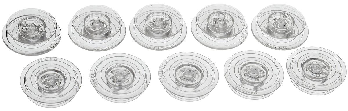 Шпульки Hemline для швейных машин Singer серии Auto Wind 600/700, 10 шт+120.15Шпульки Hemline подходят для швейных машин Singer серии Auto Wind 600/700. Шпульки выполнены из прочного пластика. Пластиковые шпульки заменяют металлические шпульки, которыми снабжены машинки. Размер шпульки: 2,2 х 2,2 х 0,6 см.
