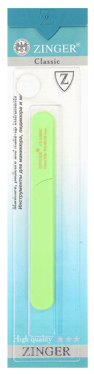 Zinger Пилка стеклянная двухсторонняя zo-FG-02-10-Case44072Стеклянная пилка создает идеальную форму натуральным и искусственным ногтям. Применяется также для обработки огрубевшей кожи вокруг ногтя.