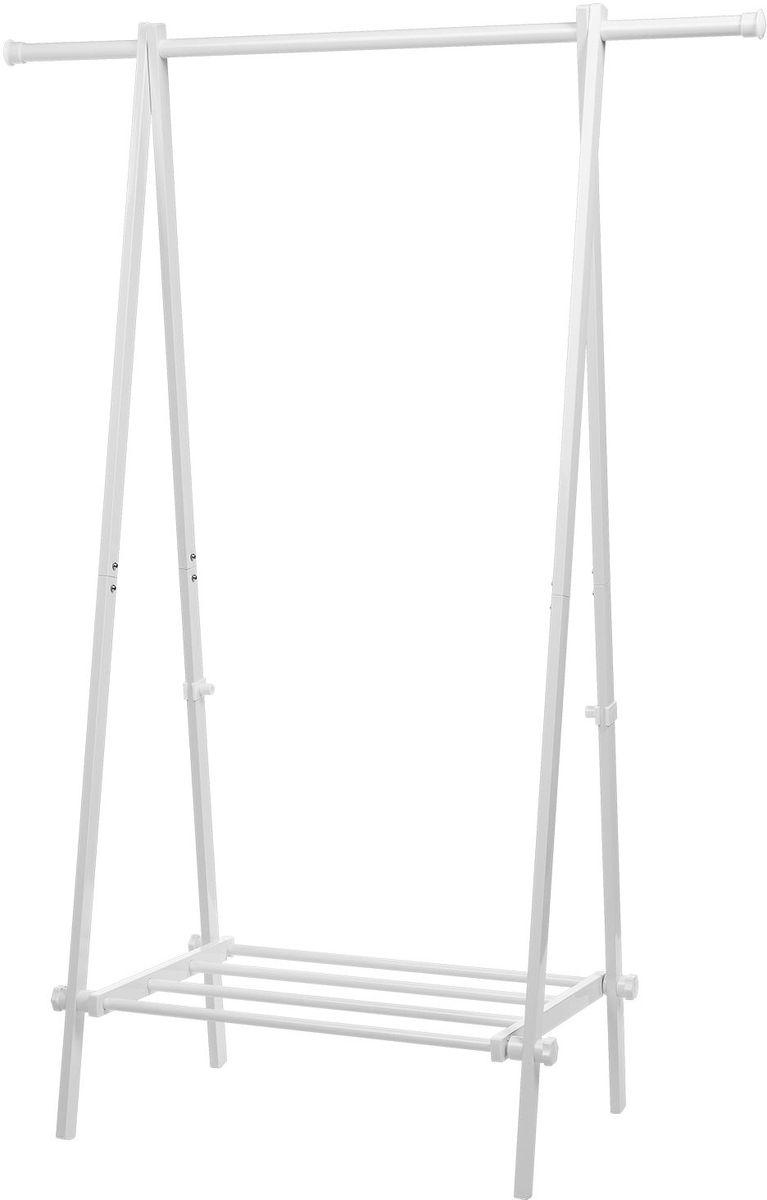 Складная стойка для одежды Tatkraft Muse, с полкой16248Tatkraft Muse Складная стойка для одежды с полкой, размер 108 ? 48 ? 150 см выдерживает вес до 50 кг для 30 вешалок, длинна для вывешивания 1 м, компактная в сложенном виде, легко хранить. Размер в сложенном виде: 108 ? 10 ? 151 см. Стальной каркас с сильными пластиковыми фиксаторами. Удобная полка для хранения коробок и обуви. Материал: Cталь с порошковым напылением. Цвет: Белый