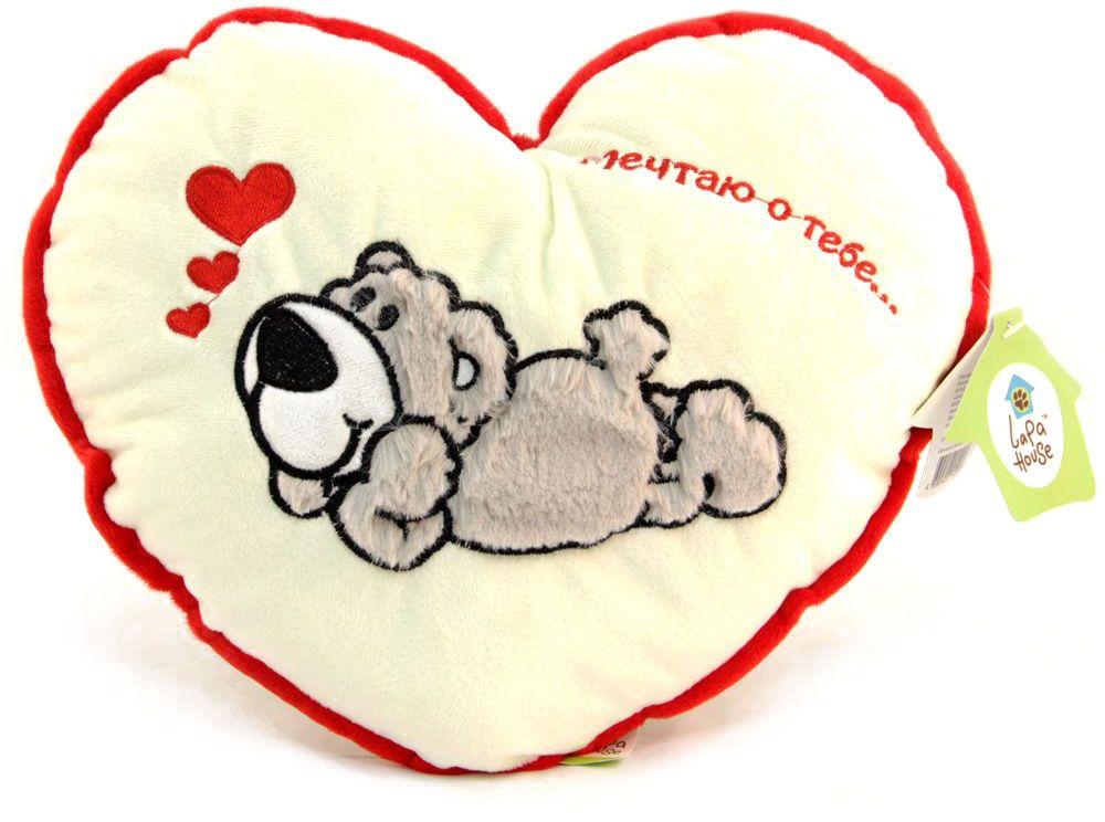 LAPA House Мягкая игрушка-подушка Мечтаю о тебе 30 см31512Мягкая игрушка-подушка LAPA House будет прекрасным подарком ко Дню всех влюбленных!